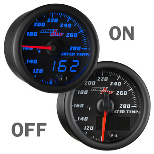 Black and Blue MaxTow Water Temperature Gauge