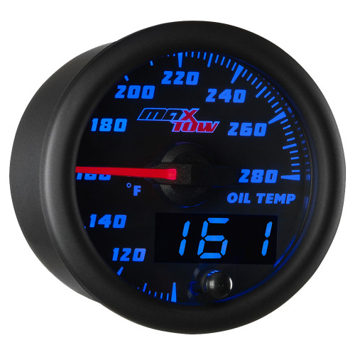 Black & Blue MaxTow Double Vision Oil Temperature Gauge