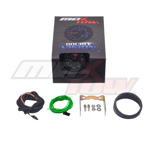 Black & Blue MaxTow Tachometer Gauge Unboxed