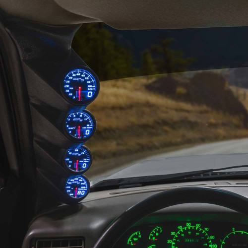 Blue MaxTow Quad Gauge Package for 1992-1997 Ford F-Series
