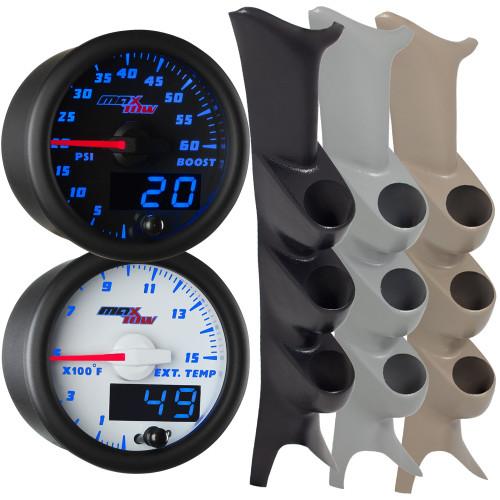 1999-2007 Ford Super Duty Power Stroke Blue MaxTow Custom Gauge Package
