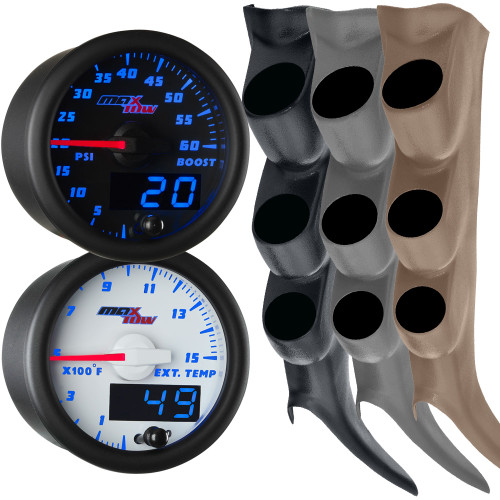 2000-2006 Chevy Silverado Duramax Blue MaxTow Gauge Package