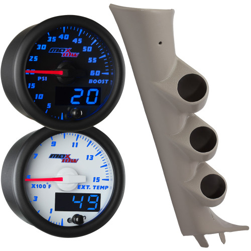 2007-2013 Chevy Silverado Blue MaxTow Gauge Package