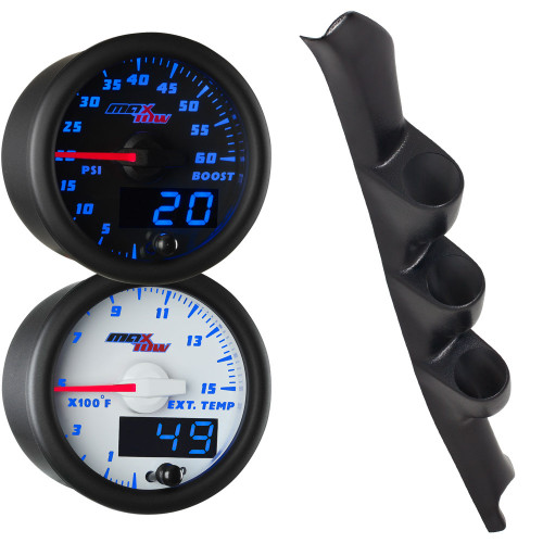 1995-1998 GMC Sierra Blue MaxTow Gauge Package