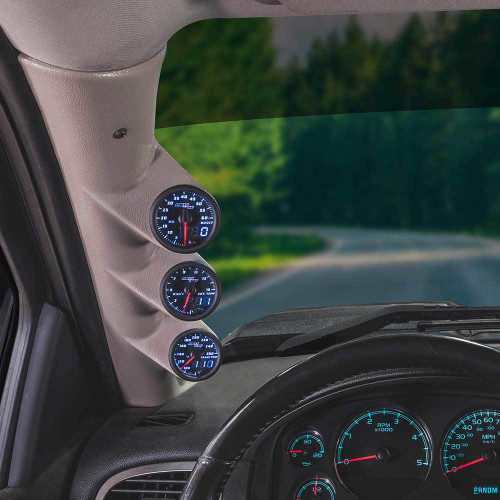 Blue MaxTow Triple Gauge Package for 2007-2013 GMC Sierra Duramax