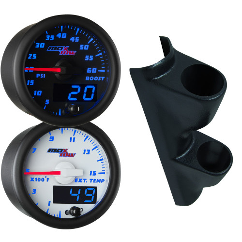 00-07 Chevrolet Silverado Duramax Blue MaxTow Custom Dual Gauge Package