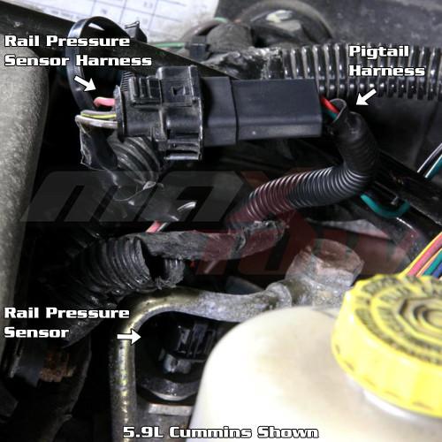 Fuel Rail Pressure Sensor Pigtail Harness Installation