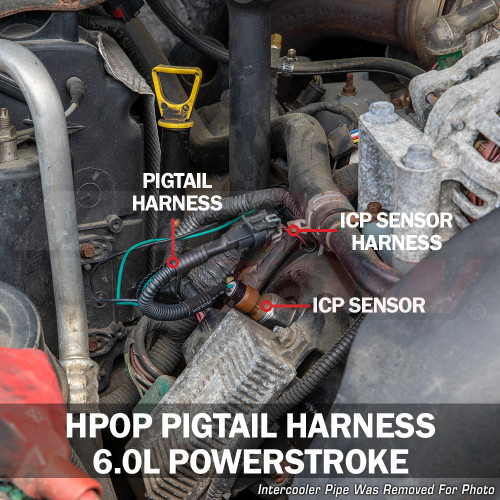 HPOP Harness Installed to 6.0L Power Stroke
