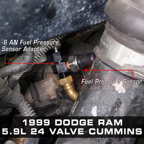 -6 AN Fitting Installed to 1999 Dodge Ram 5.9L 24 Valve Cummins