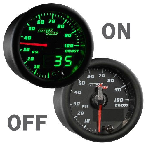 MaxTow 100psi Diesel Boost Gauge On/Off