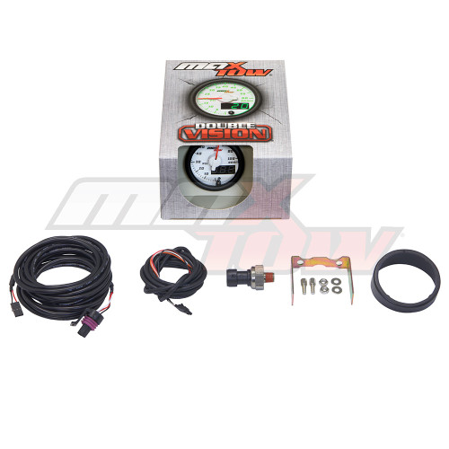 White & Green MaxTow 100 PSI Boost Gauge Unboxed