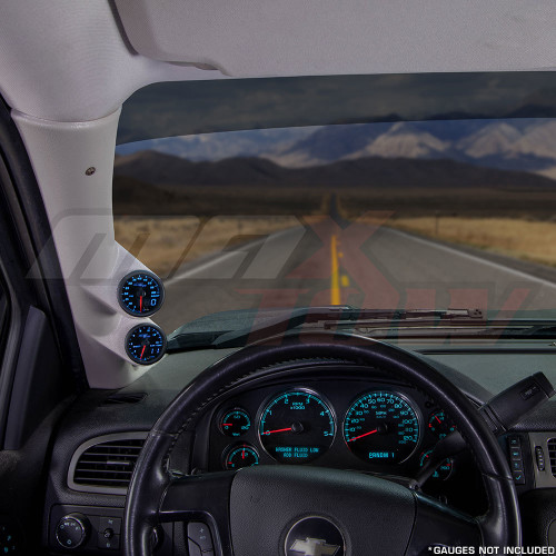 2007-2013 GMC Sierra Duramax Tan Full Size Dual Pillar Pod Installed