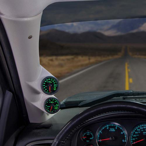 Green MaxTow Dual Gauge Package for 2007-2013 Chevrolet Silverado Duramax