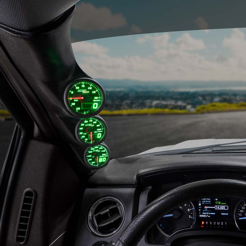 Green MaxTow Triple Gauge Package for 2009-2014 Ford F-150
