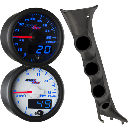 2009-2014 Ford F-150 Blue MaxTow Custom Gauge Package Thumb