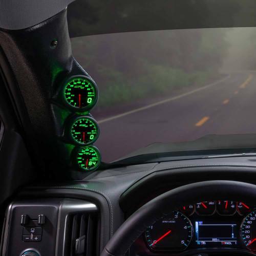 Green MaxTow Triple Gauge Package for 2014-2019 GMC Sierra Duramax