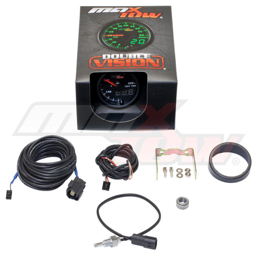 Black & Green MaxTow Differential Temperature Gauge Unboxed