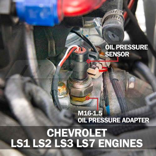 Oil Pressure Sensor Thread Adapter for GM LS1, LS2, LS3, LS7 & LSX
