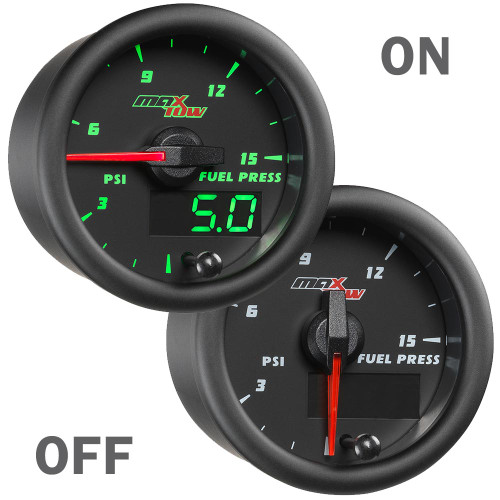 MaxTow 15 PSI Fuel Pressure Gauge On/Off