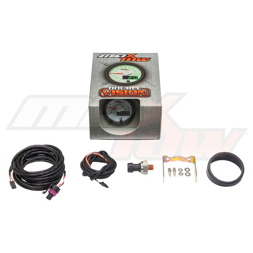 White & Green MaxTow 15 PSI Fuel Pressure Gauge Unboxed