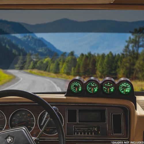 Black Quad Gauge Dashboard Pod for 1986-1993 Dodge Ram Cummins Installed