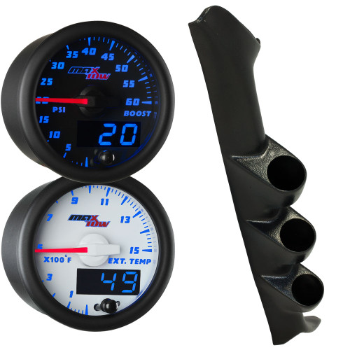 Blue MaxTow Triple Gauge Package for 1997-2001 Ford F-150