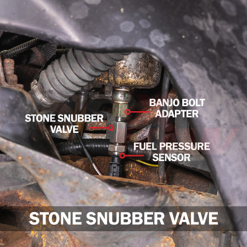 Stone Snubber Valve Installed to Dodge Ram 12 Valve Cummins