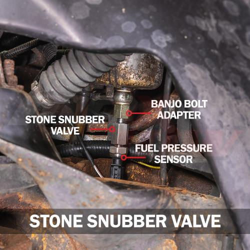Stone Snubber Valve Installed to Dodge Ram 12 Valve Cummins