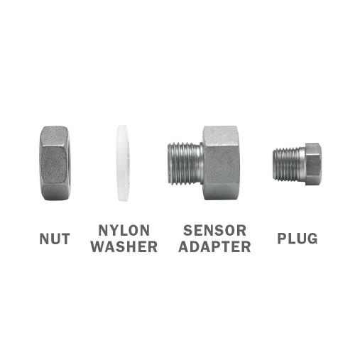 Transmission & Oil Pan Temperature Sensor Adapter Kit Exploded View
