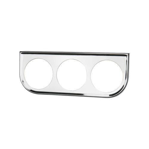 Universal Chrome Triple Gauge Under Dashboard Mounting Bracket Pod