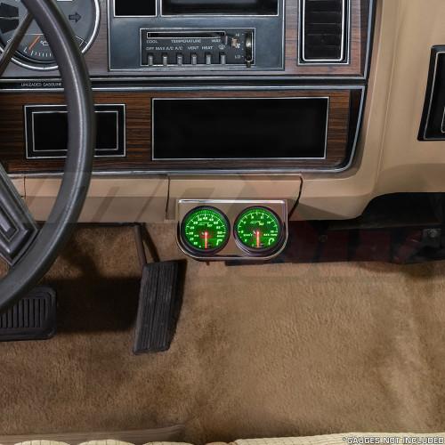 Universal Chrome Dual Gauge Under Dashboard Mounting Bracket Pod Installed