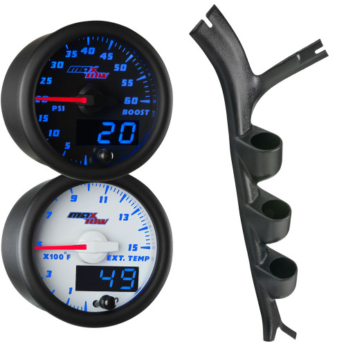 Blue MaxTow Triple Gauge Package for 1973-1987 Chevrolet C-10