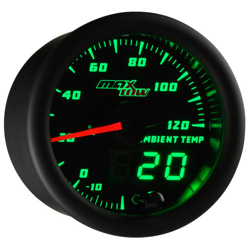 Black & Green MaxTow Ambient Air Temperature Gauge