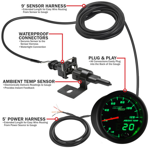 MaxTow Ambient Air Temperature Parts Layout