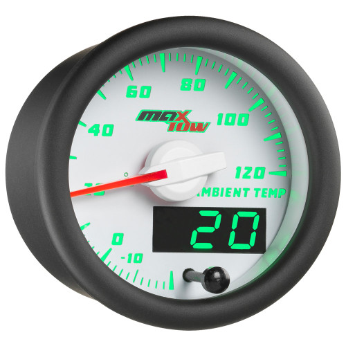 White & Green MaxTow Ambient Air Temperature Gauge