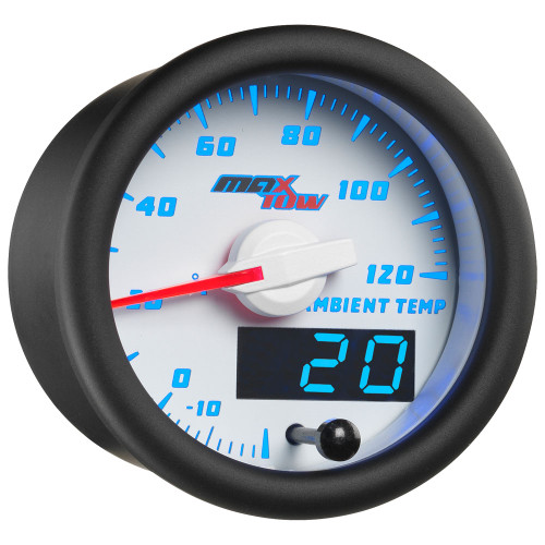 White & Blue MaxTow Ambient Air Temperature Gauge