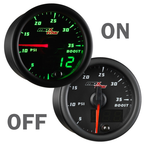 MaxTow 35psi Boost Gauge On/Off
