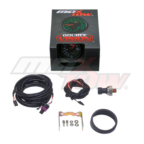 Black & Green MaxTow 60 PSI Boost Gauge Unboxed