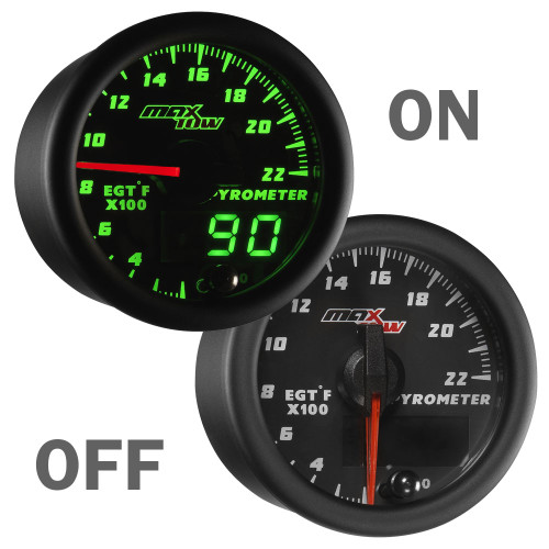 MaxTow 2200° Exhaust Gas Temperature Gauge On/Off