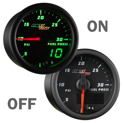 MaxTow 30 PSI Fuel Pressure Gauge On/Off