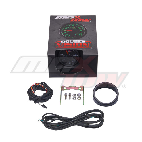 Black & Green MaxTow 30,000 PSI Fuel Rail Pressure Gauge Unboxed