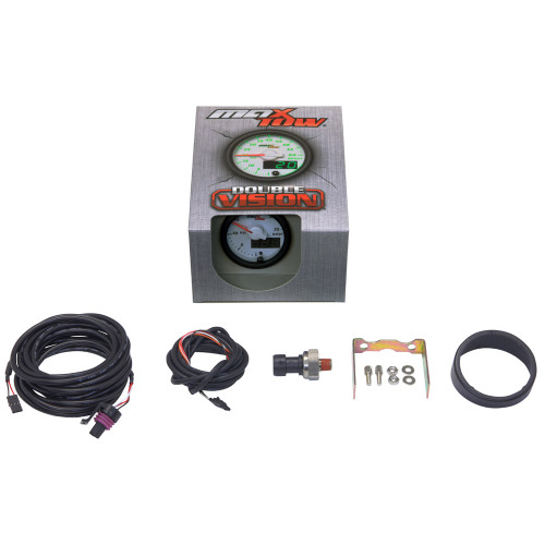 White & Green MaxTow 35 PSI Boost Gauge Unboxed