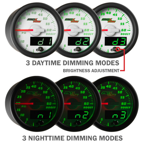 White MaxTow Daytime & Nighttime Dimming Modes