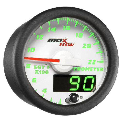 White MaxTow Double Vision 2200 F Exhaust Gas Temperature Gauge