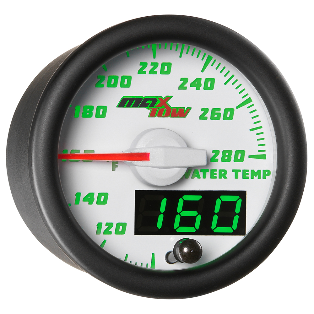 White MaxTow Double Vision Water Temperature Gauge