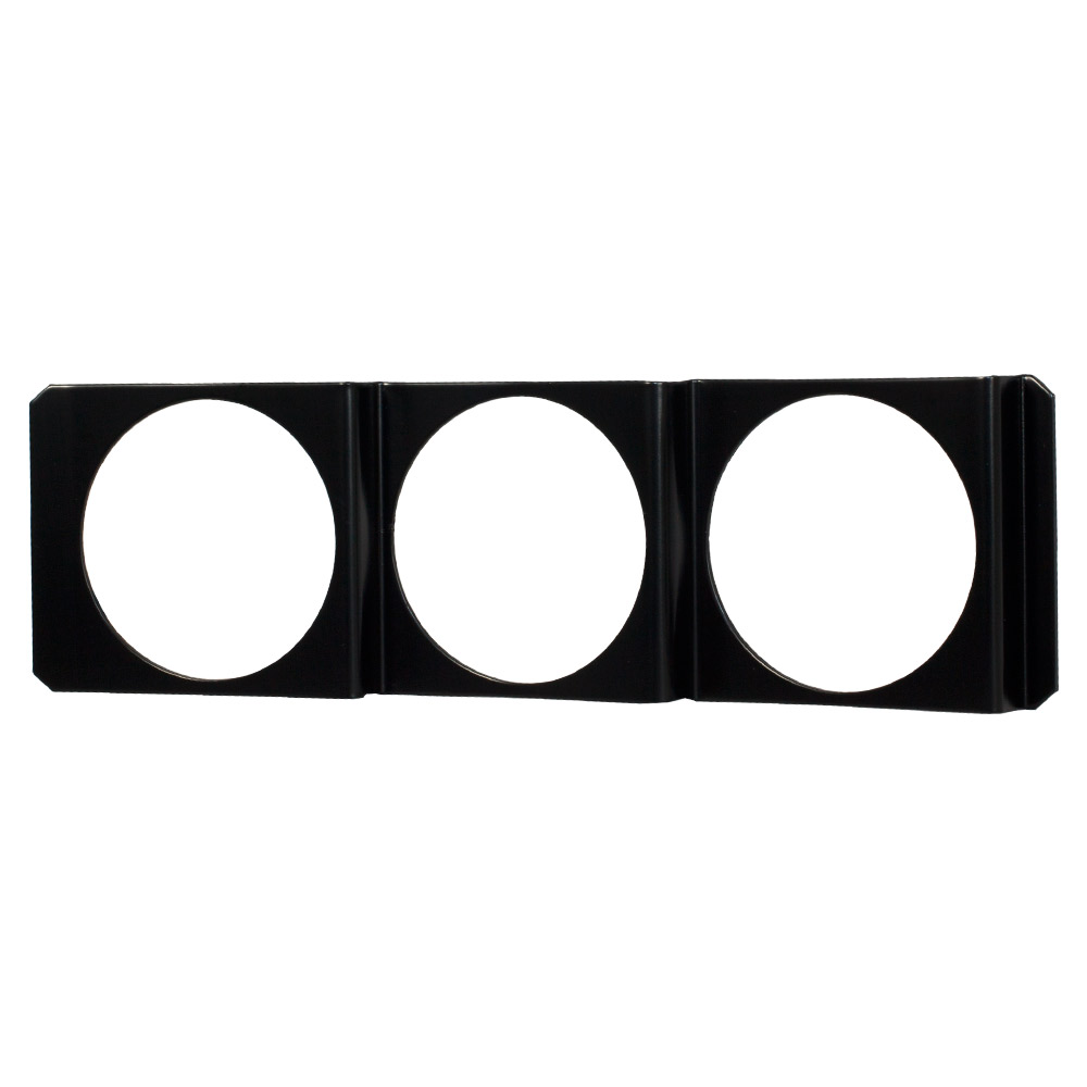 Universal Triple Gauge Single Din Radio Face Pod