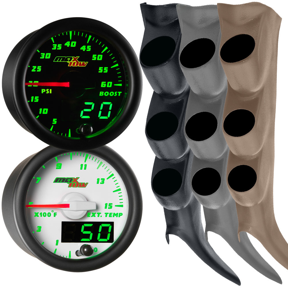 00-06 GMC Sierra Duramax MaxTow Custom Gauge Package