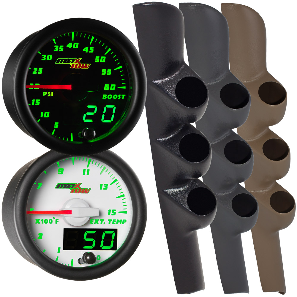 98-02 Dodge Ram Cummins MaxTow Custom Gauge Package