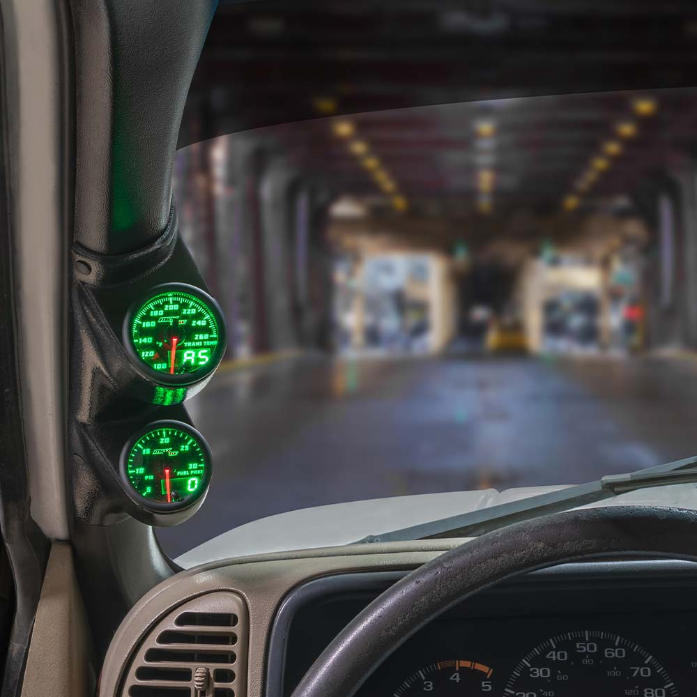 Green MaxTow Dual Gauge Package for 1987-1997 Ford F-Series