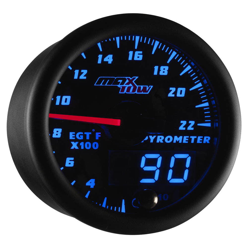 Blue MaxTow 2200 F Exhaust Gas Temperature Gauge
